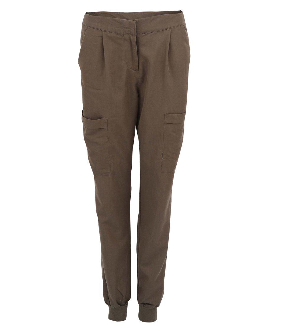 Hnědé kapsáčové kalhoty Vero Moda Indi