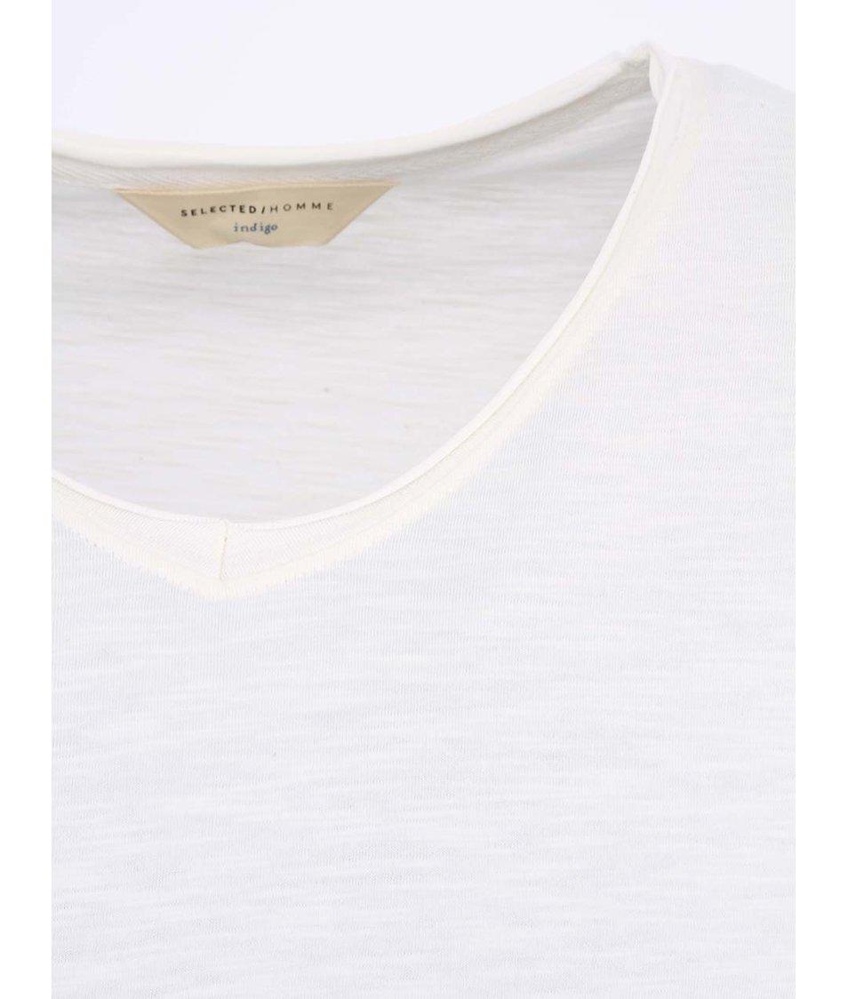 Krémové pánské triko Selected Even