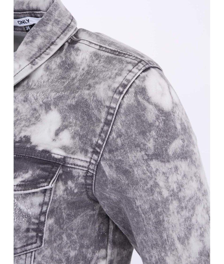 Šedá džínová bunda ONLY Westa