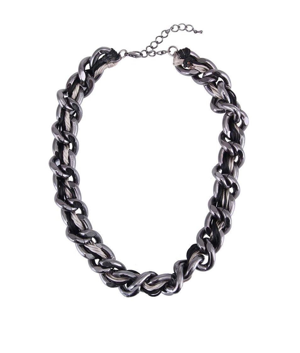 Tmavě šedý náhrdelník ONLY Madeline