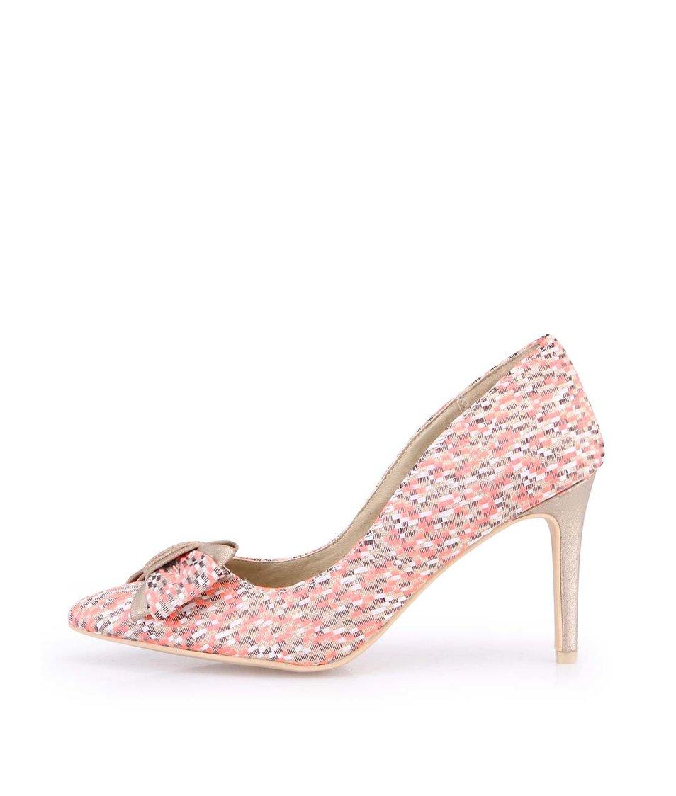 Korálové boty na jehlovém podpatku s mašlí Ruby Shoo Jenna