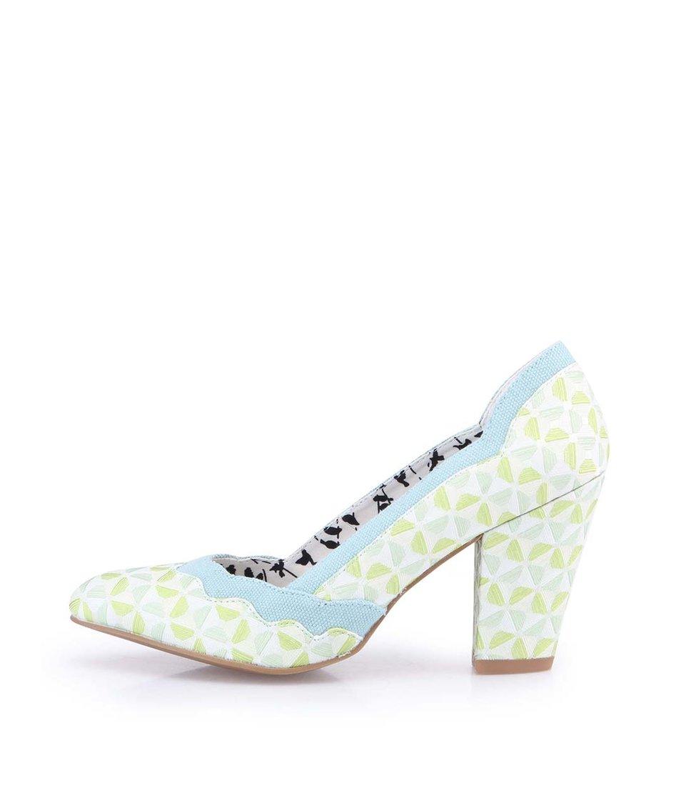 Pistáciově vzorované boty na podpatku Ruby Shoo Savannah