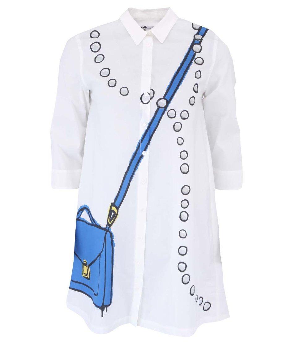 Bílá dlouhá košile Desigual Cinsal