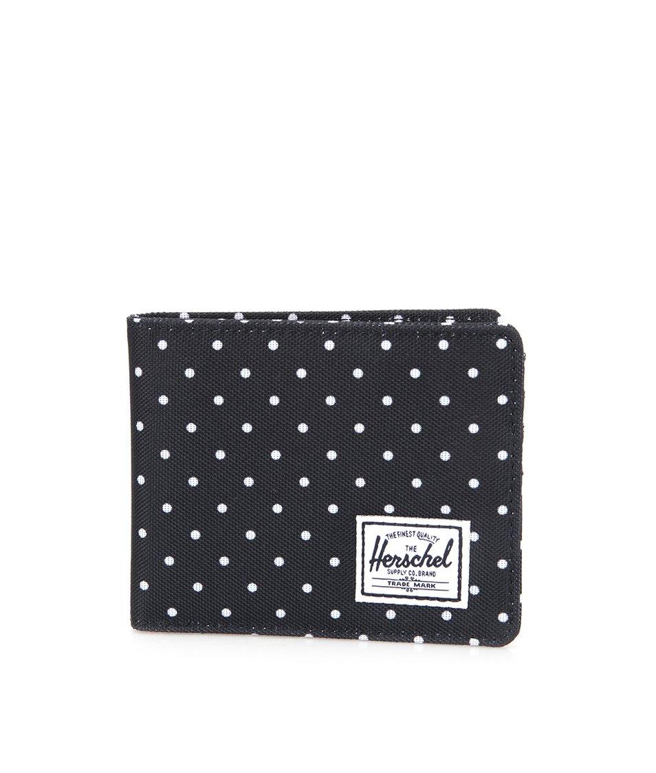 Černá peněženka s bílými puntíky Herschel Roy