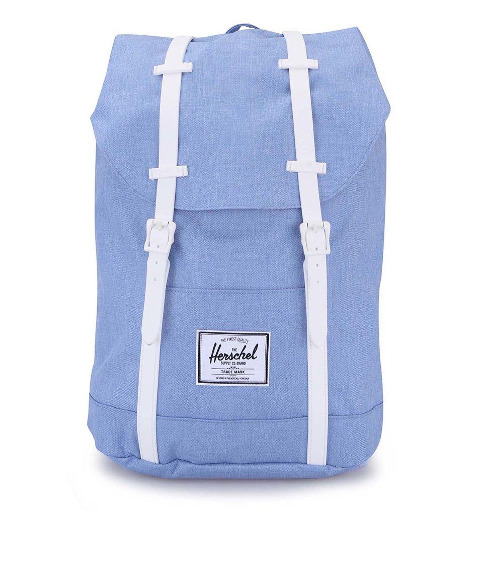 Modrý batoh s bílými přezkami Herschel Retreat