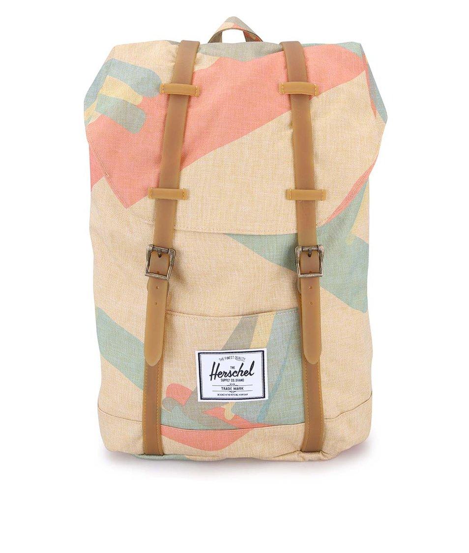 Béžový velký batoh s barevným motivem Herschel Retreat