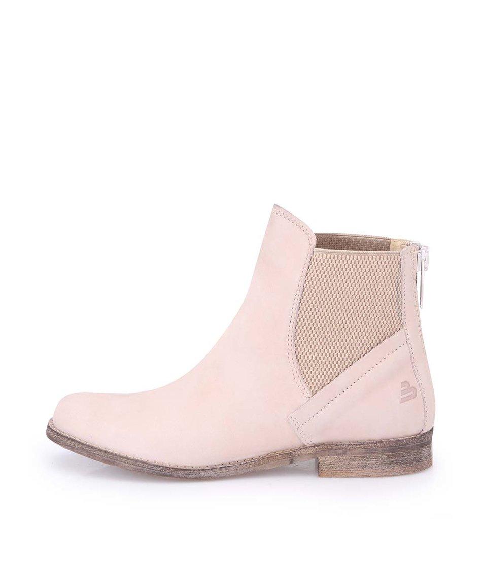 Tělové dámské kožené kotníkové boty Bullboxer
