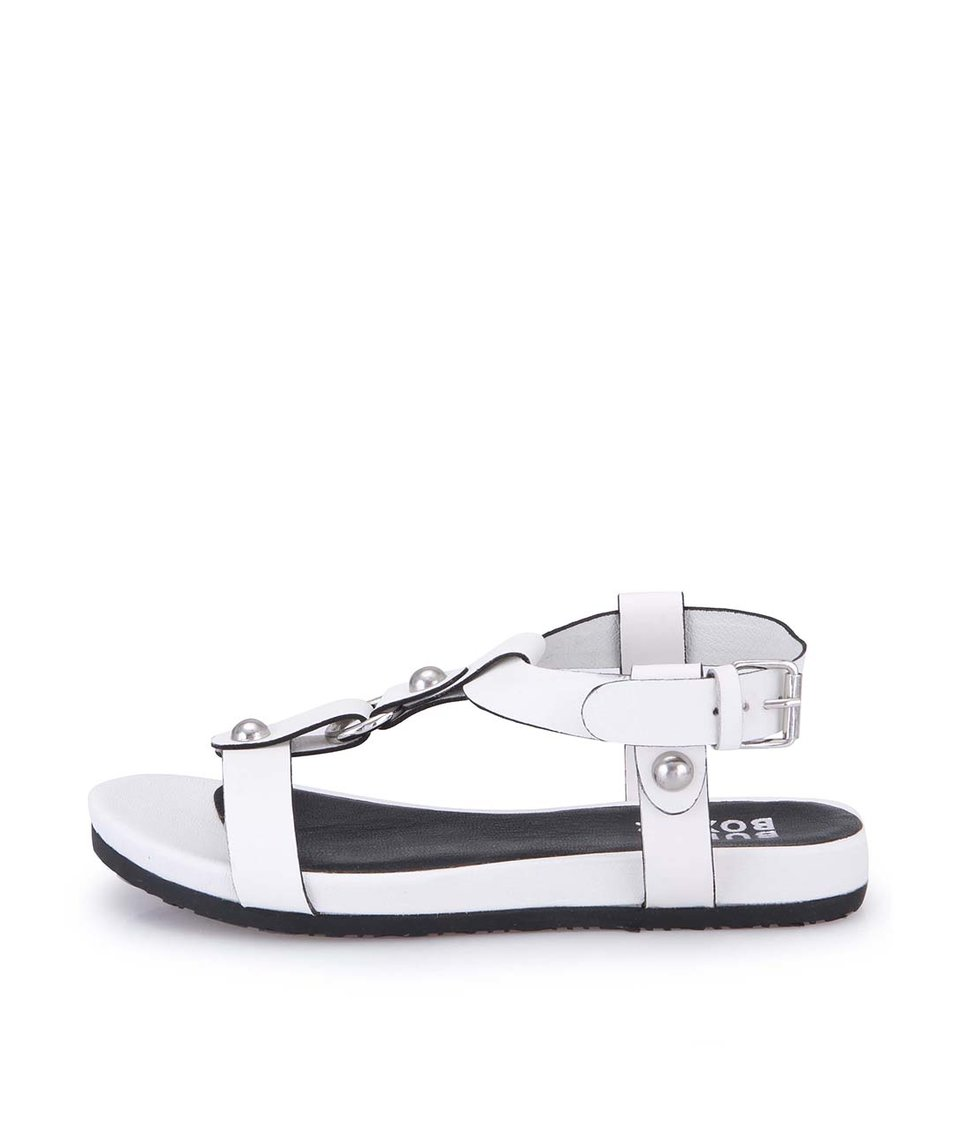 Bílé dámské kožené sandálky Bullboxer