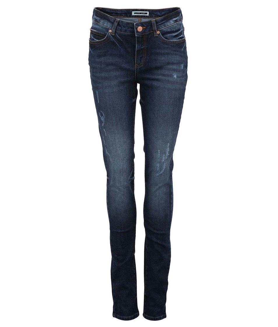 Tmavě modré slim džíny Lulu Noisy May