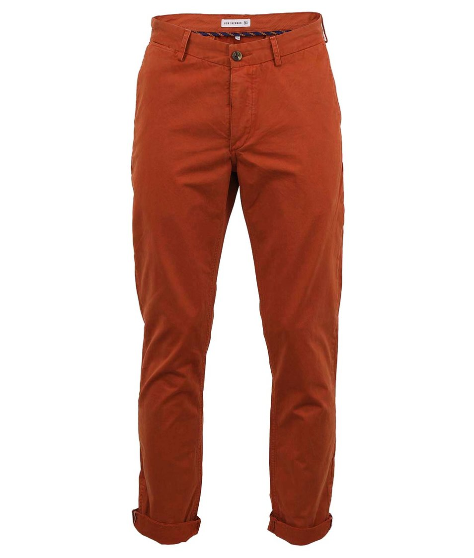 Cihlově červené kalhoty Ben Sherman