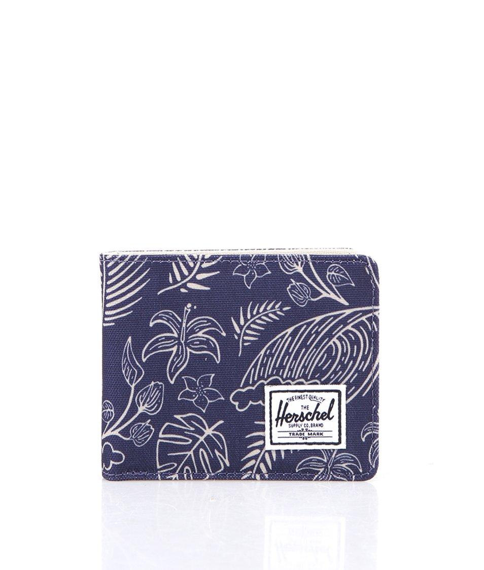 Modrá peněženka s palmovým vzorem Herschel Roy Coin