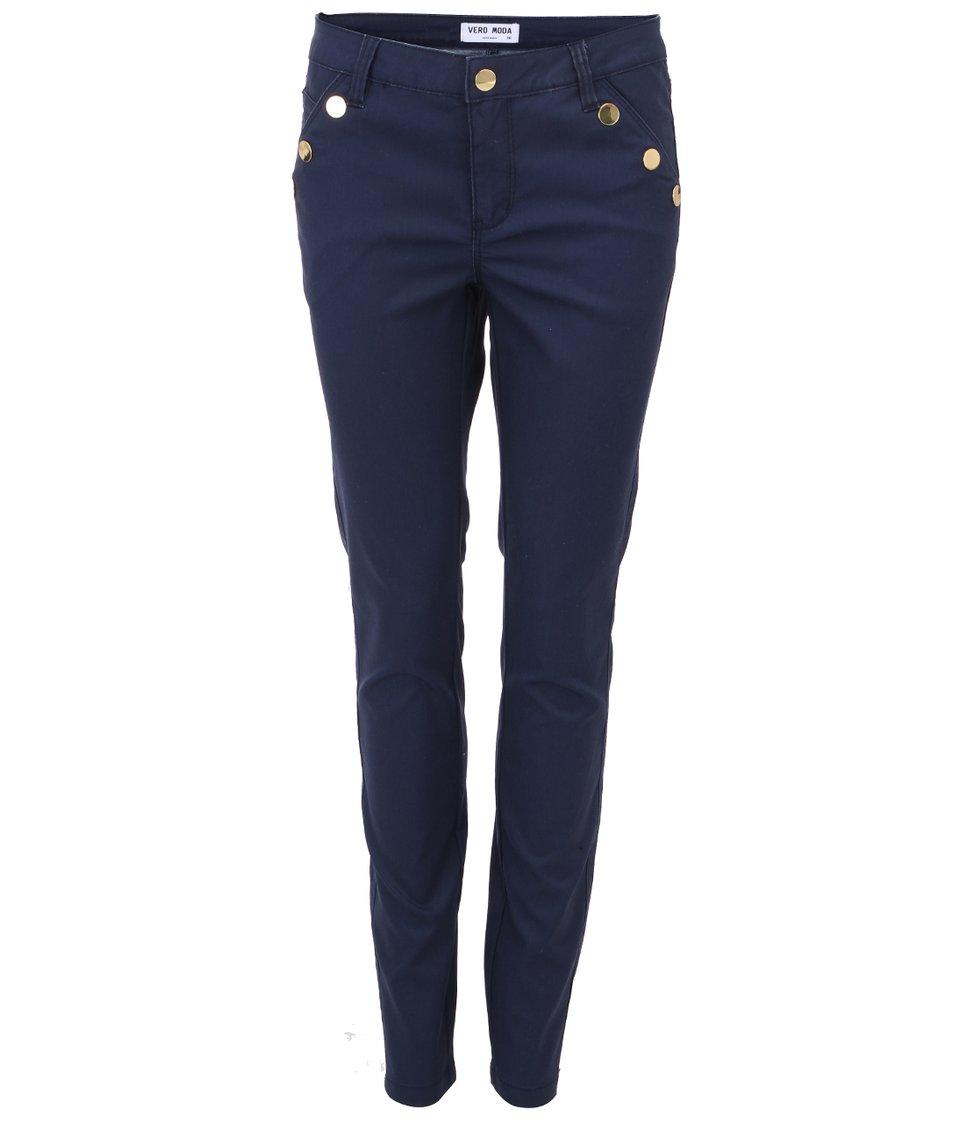 Tmavě modré kalhoty Vero Moda Rider