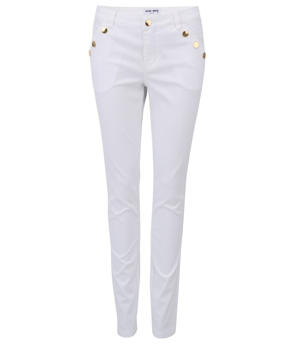 Bílé kalhoty Vero Moda Rider