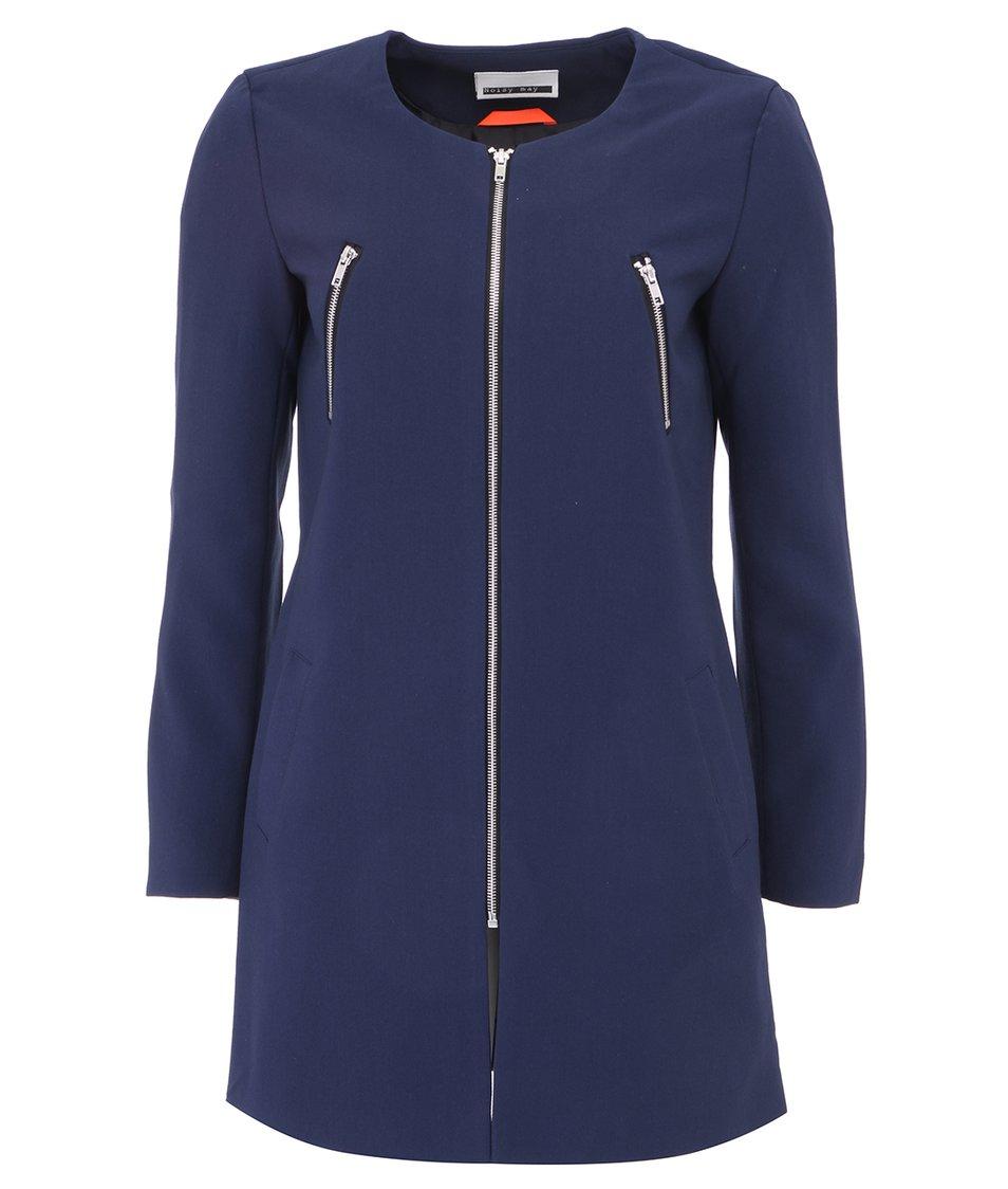 Tmavě modrý lehký kabát Noisy May Covey