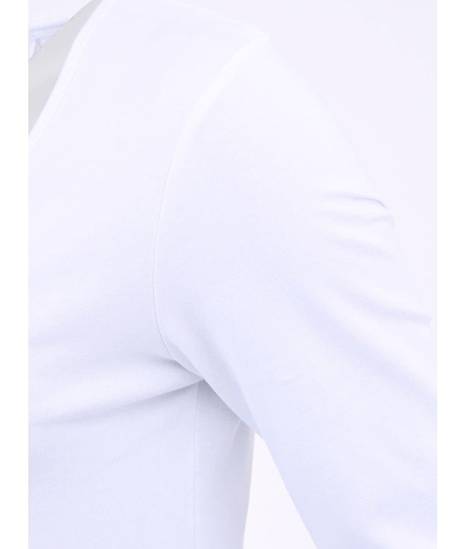 Bílé tričko s dlouhými rukávy ONLY Live Love