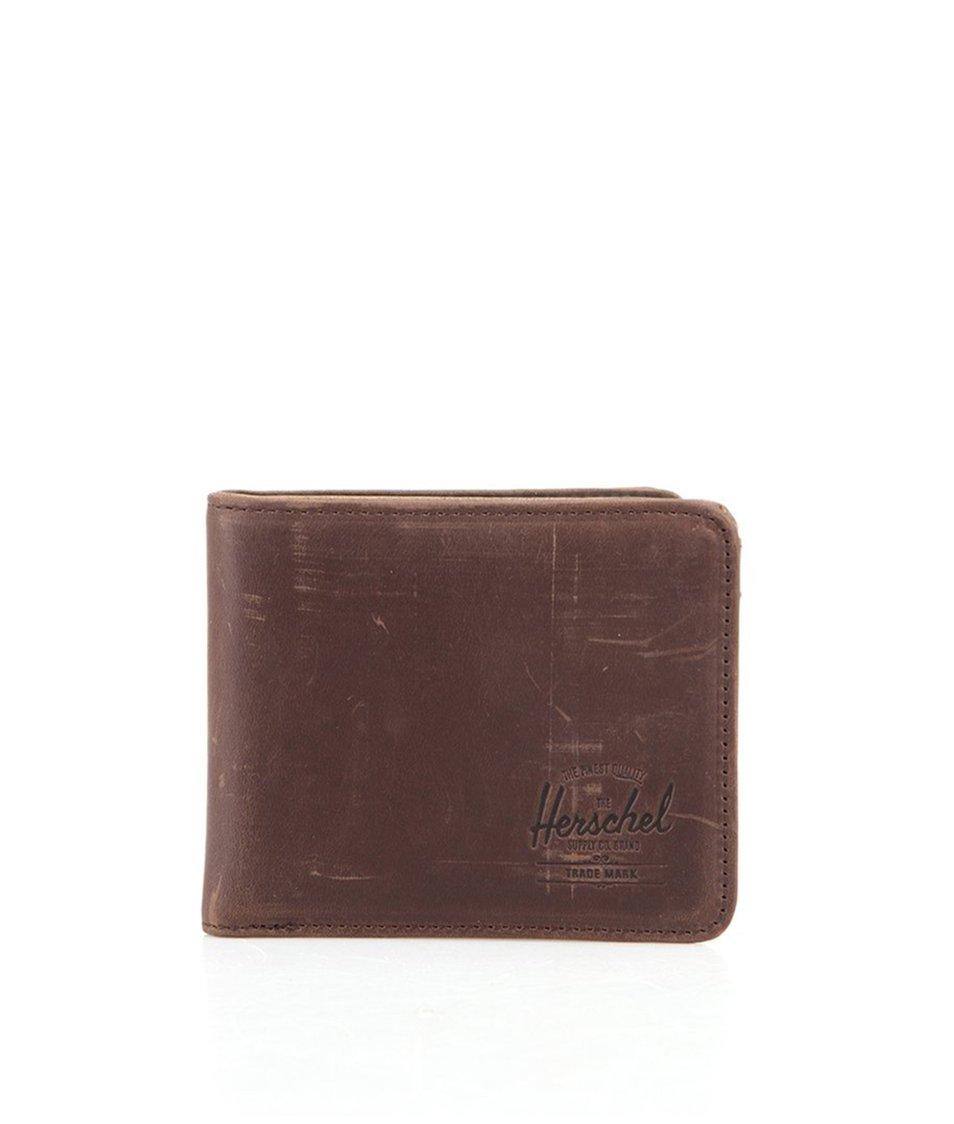 Hnědá kožená peněženka Herschel Hank