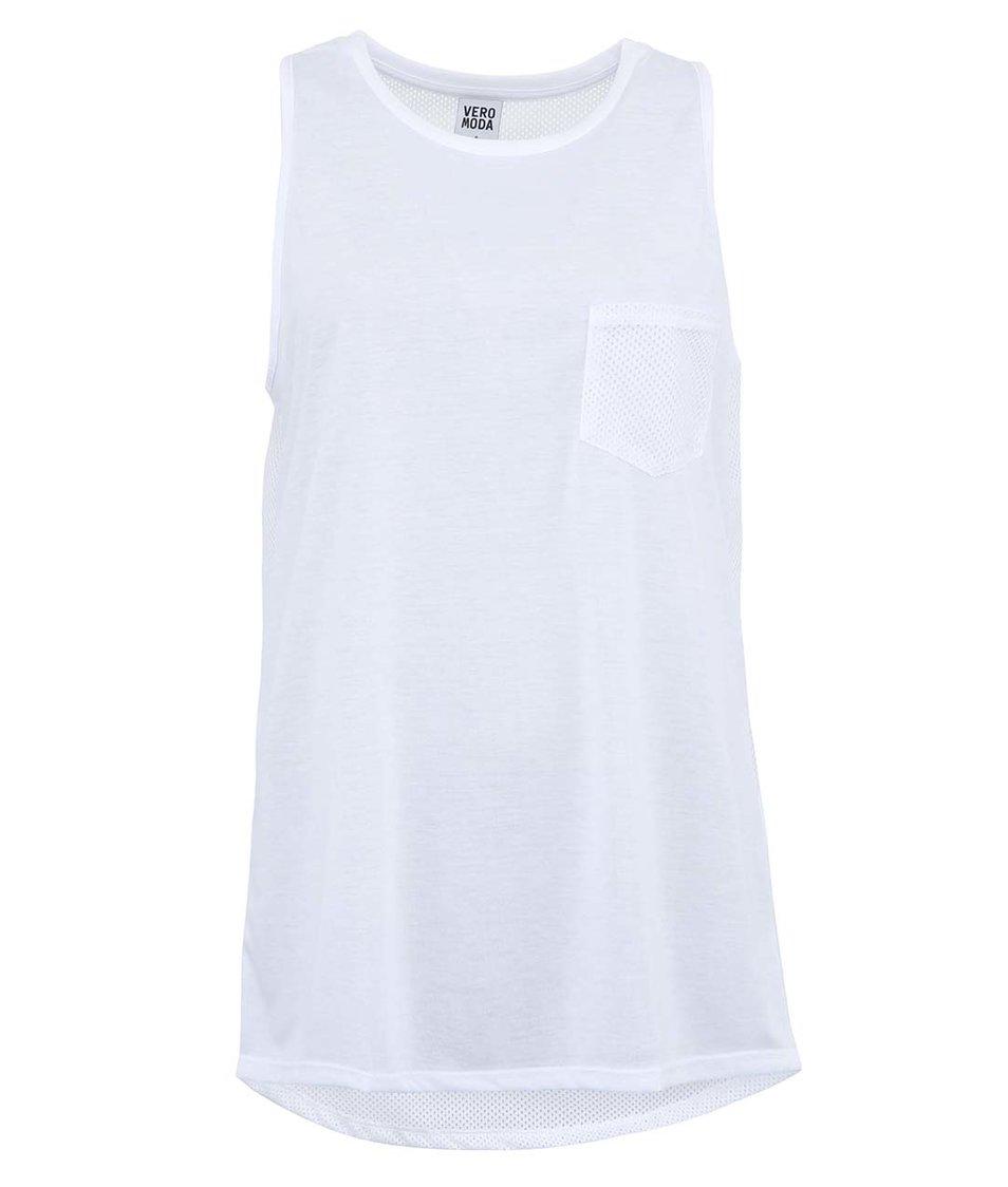Bílé dlouhé tílko Vero Moda Mixa