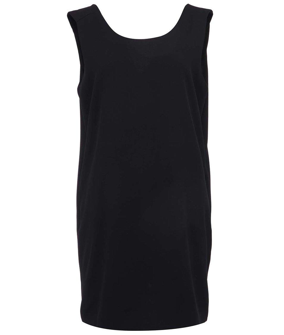 Černé volnější šaty ICHI Balli