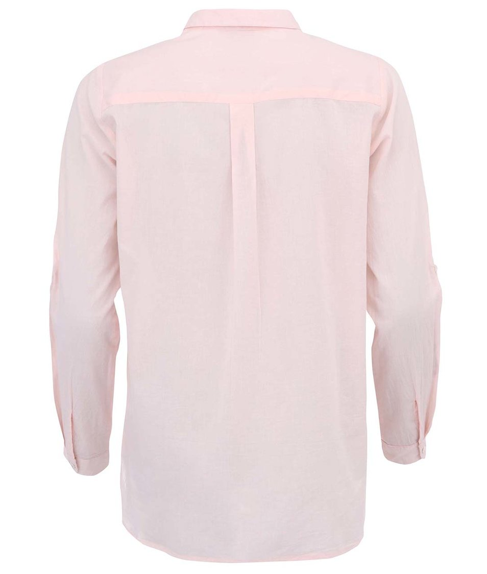 Světle růžová delší košile b.young Gippo