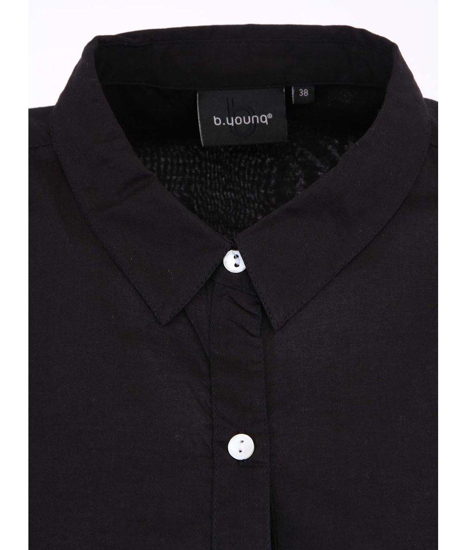 Černá delší košile b.young Gippo