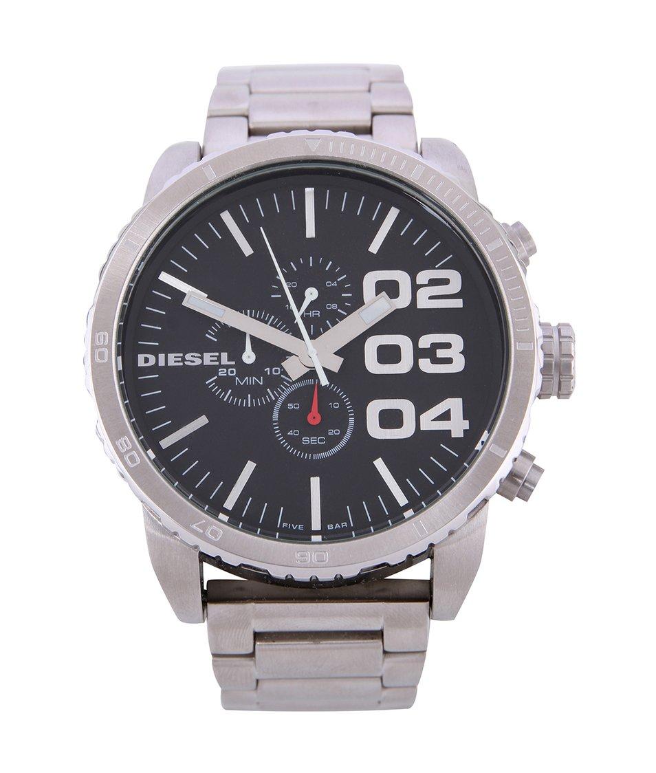 Pánské hodinky z nerezové oceli s černým ciferníkem Diesel