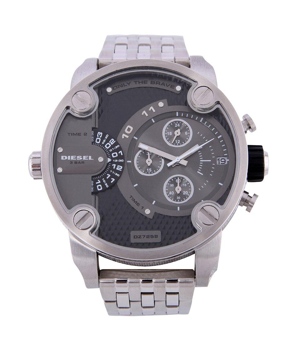 Stříbrné pánské hodinky z nerezové oceli Diesel