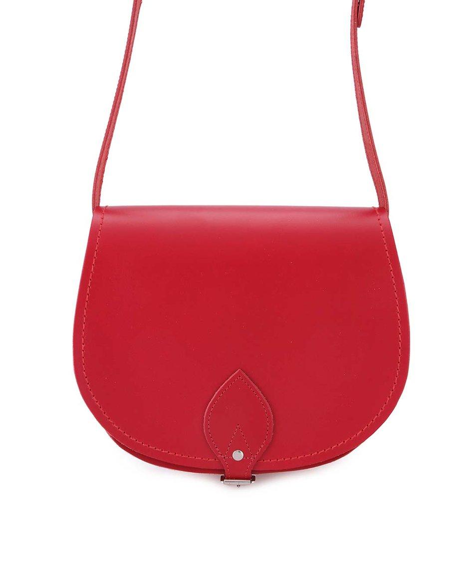 Červená kožená brašna Zatchels Saddle Bag