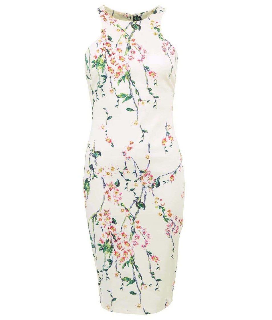 Bílé šaty s květinovým vzorem AX Paris