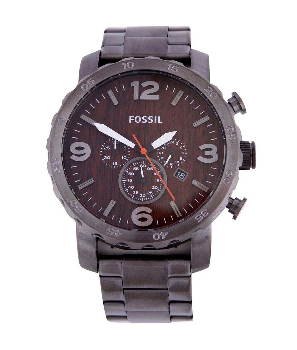 Pánské hodinky s kovovým páskem Fossil