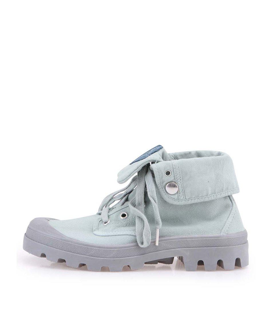 Mentolově zelené boty s výraznou podrážkou Tamaris