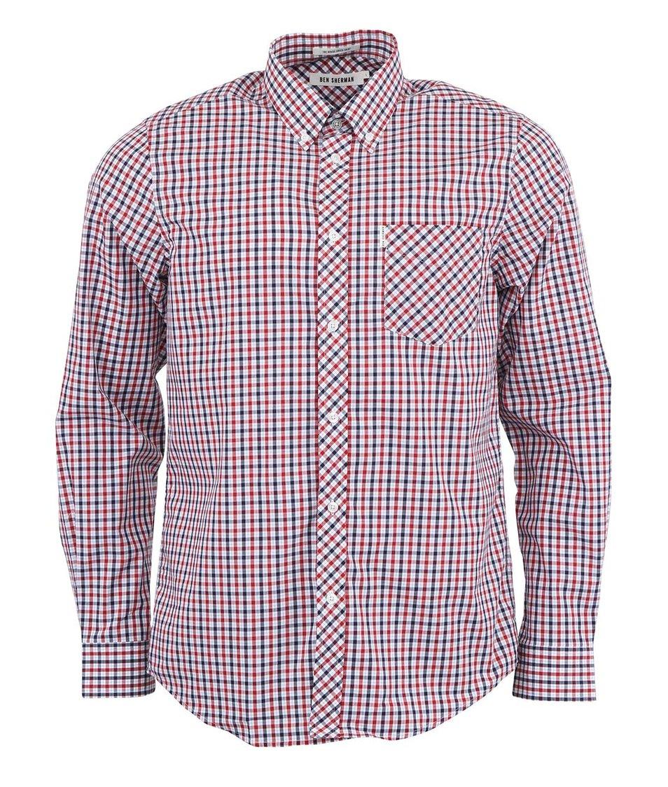 Modro-červená kostkovaná košile Ben Sherman