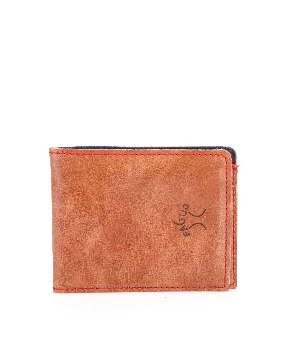 Hnědá kožená pánská peněženka Faguo Wallet 7
