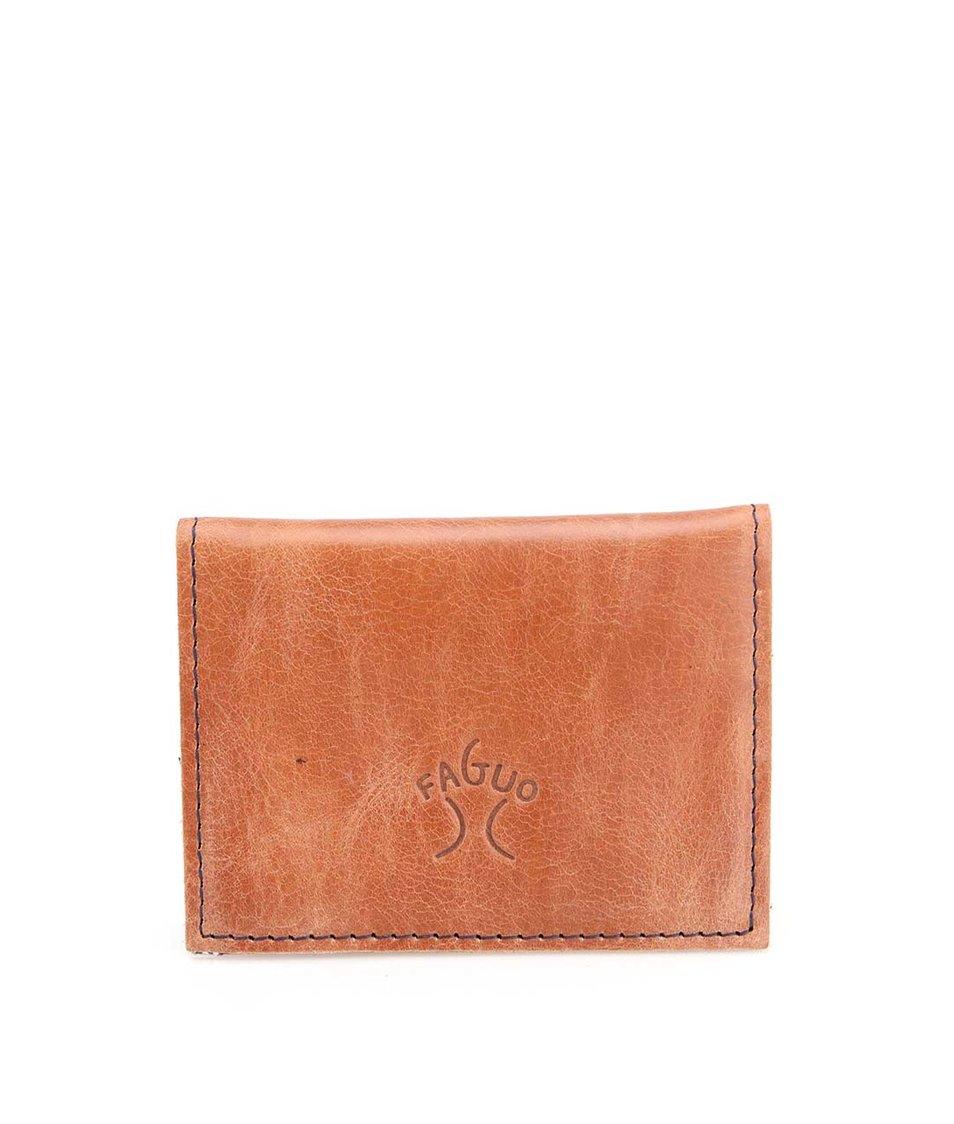 Hnědá kožená pánská menší peněženka Faguo Wallet 365