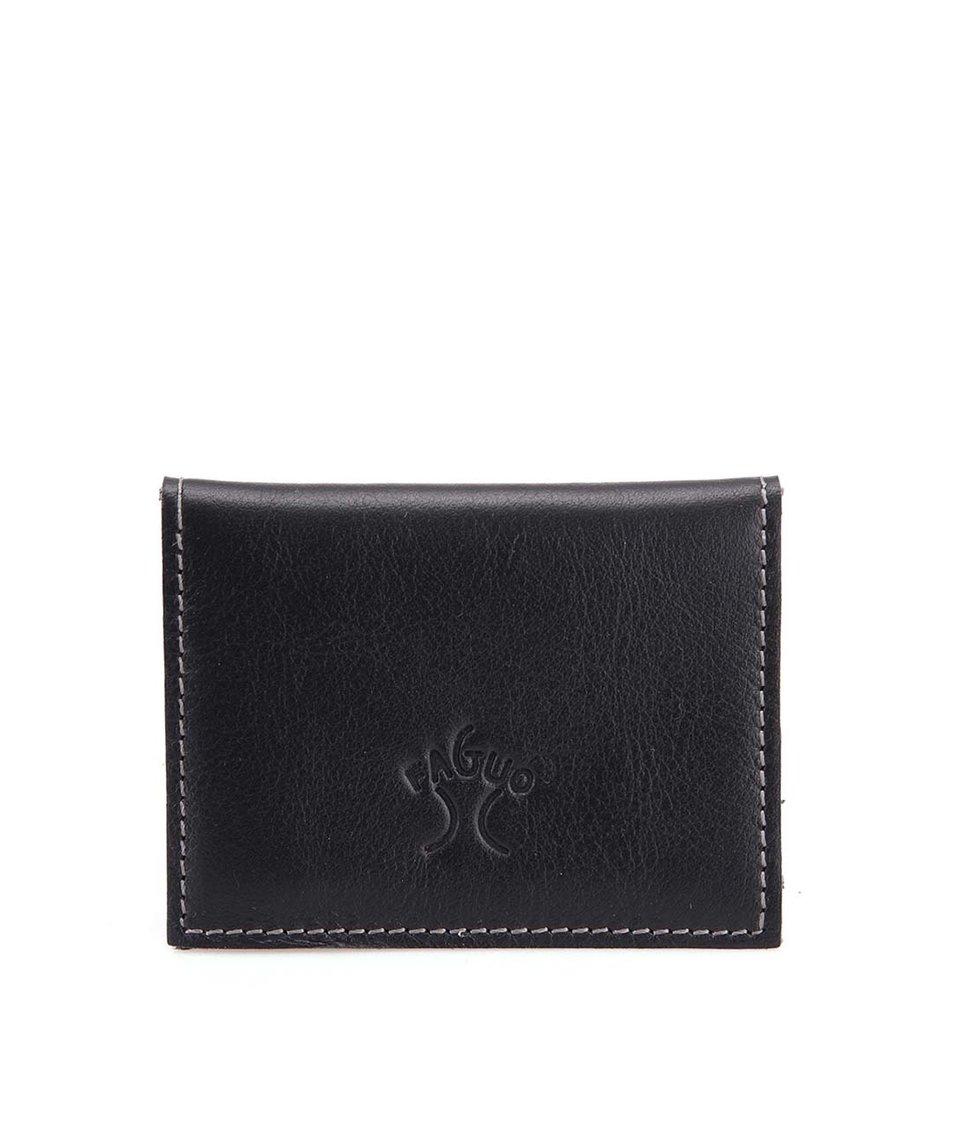 Černá kožená pánská menší peněženka Faguo Wallet 365