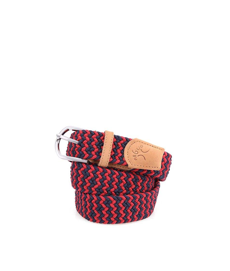 Modro-červený pánský proplétaný pásek Faguo Belt