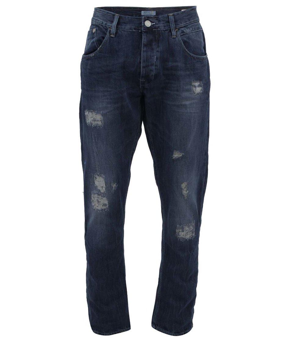 Tmavě modré džíny s prošívaným efektem Blend