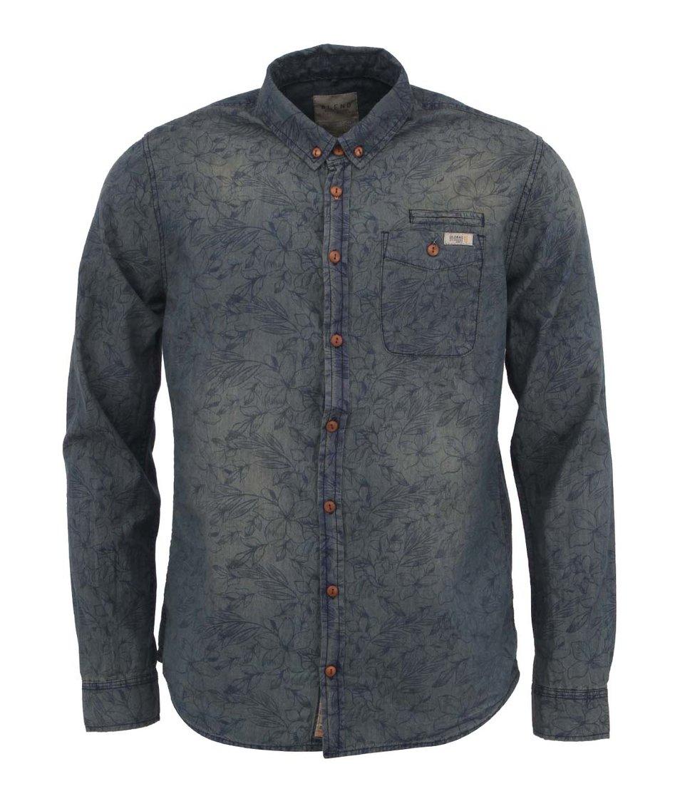 Modro-béžová vzorovaná košile Blend
