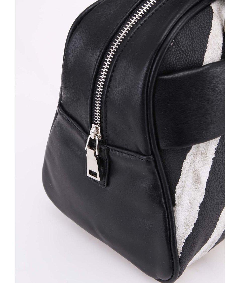 Černo-bílá zebrovaná kabelka do ruky Clenapal