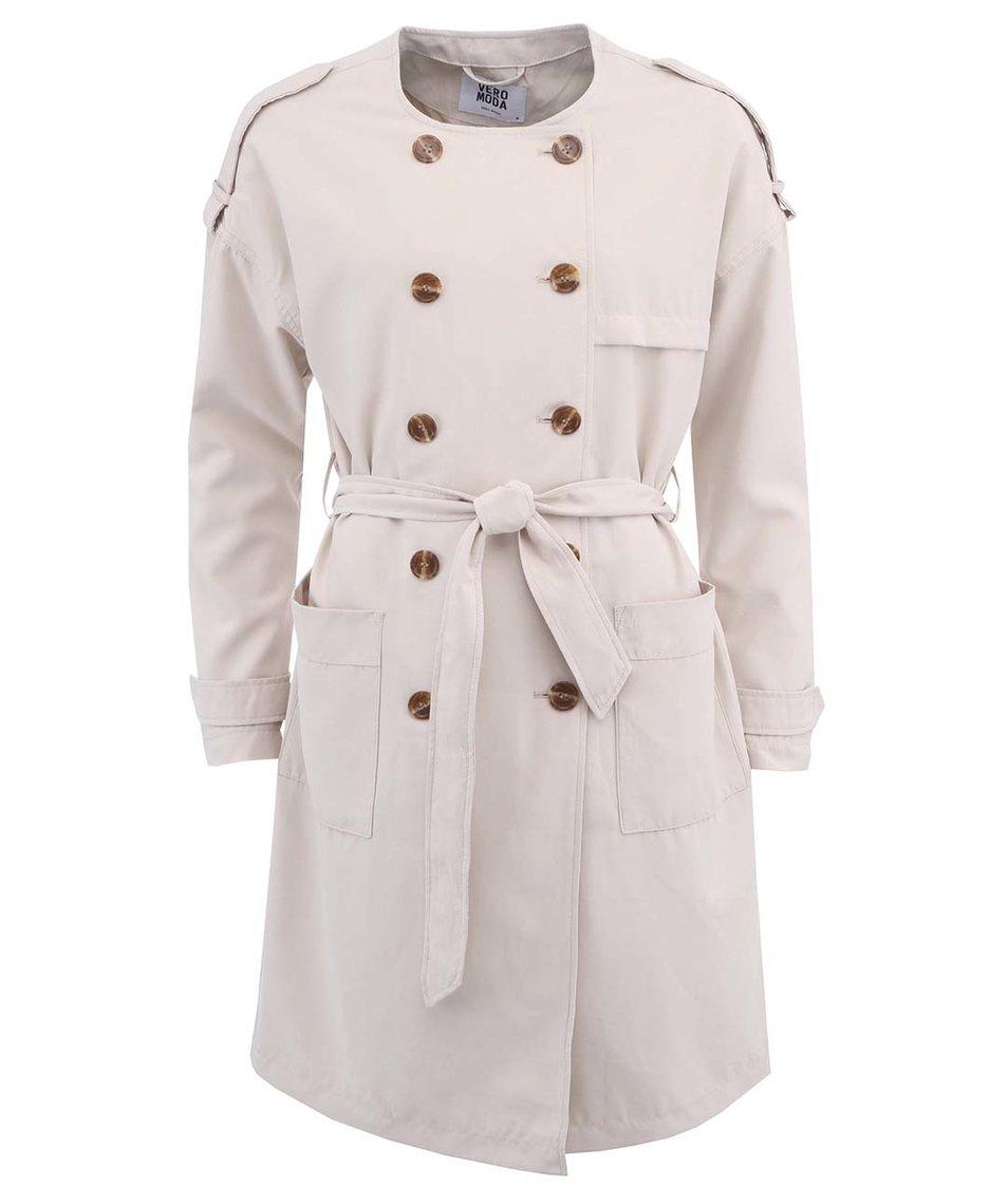 Krémový kabát Vero Moda Donate