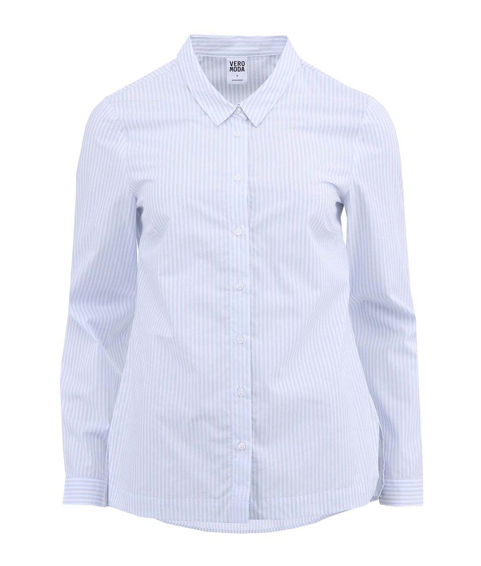 Světle modrá pruhovaná košile s dlouhým rukávem Vero Moda Tanga
