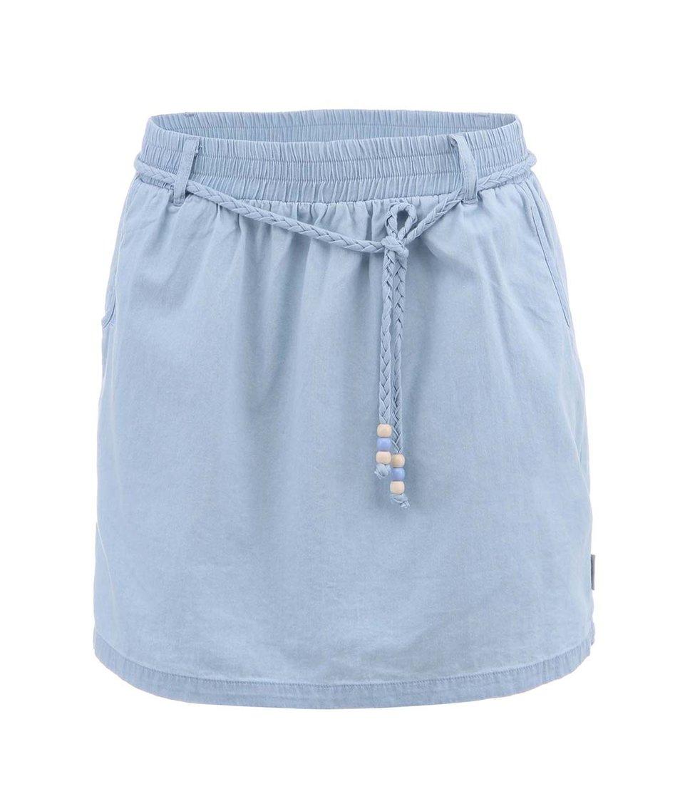Světle modrá sukně se šňůrkou Ragwear Plaja