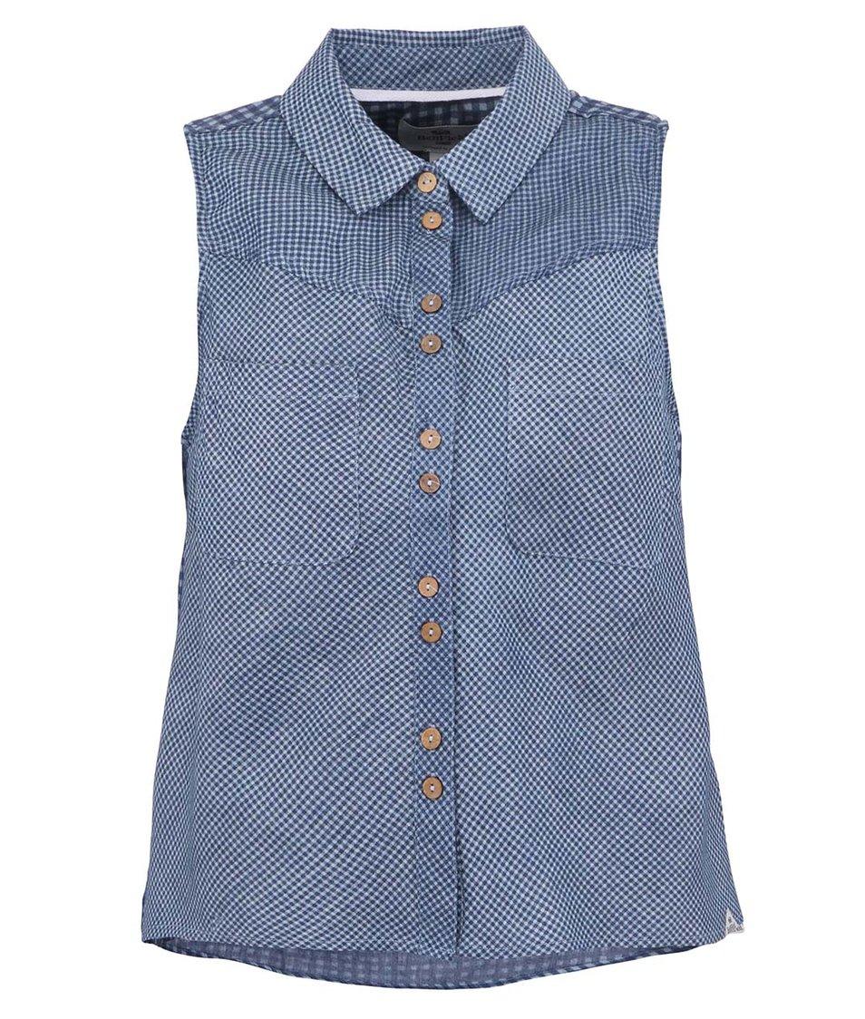 Tmavě modrá kostkovaná dámská košile Bellfield Staritsa