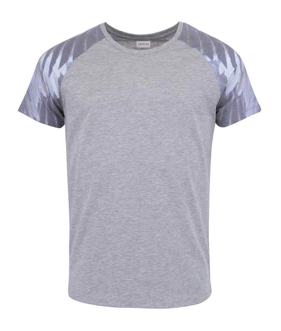 Světle šedé tričko Jack & Jones Wind Shoulder