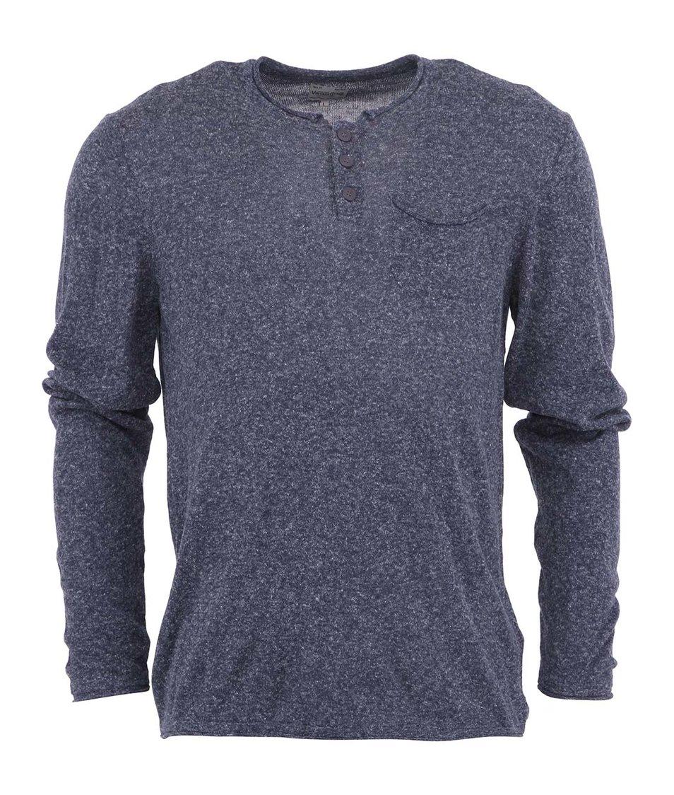 Tmavě modrý svetr s dlouhými rukávy Jack & Jones Run