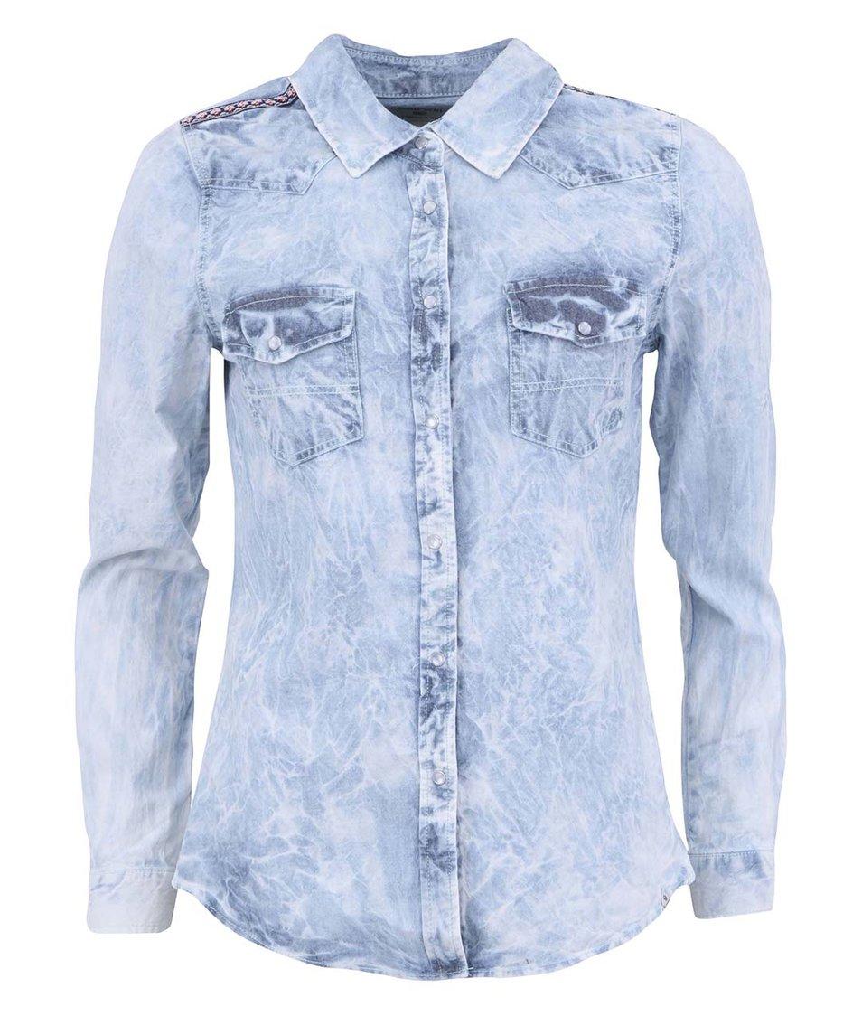 Světle modrá dámská džínová košile Bellfield Iris