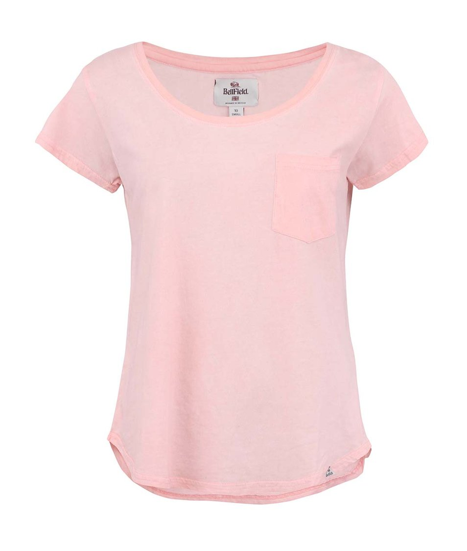 Korálové dámské tričko s uzlem Bellfield Sabrina