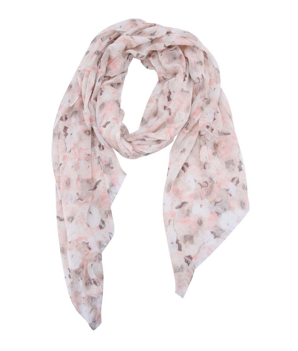 Světle růžový vzorovaný šátek Pieces Annemone