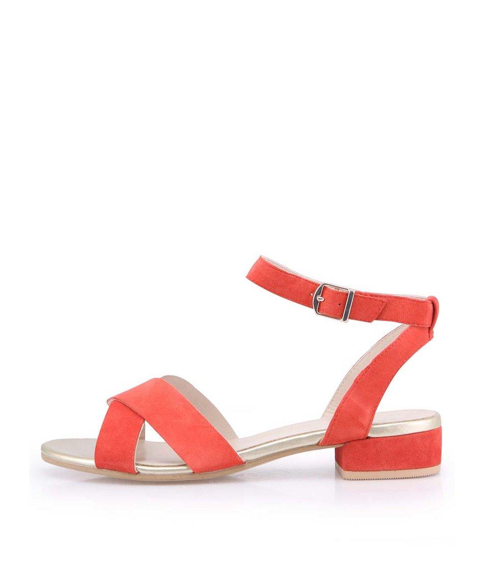 Červené dámské kožené sandálky Vagabond Banksia