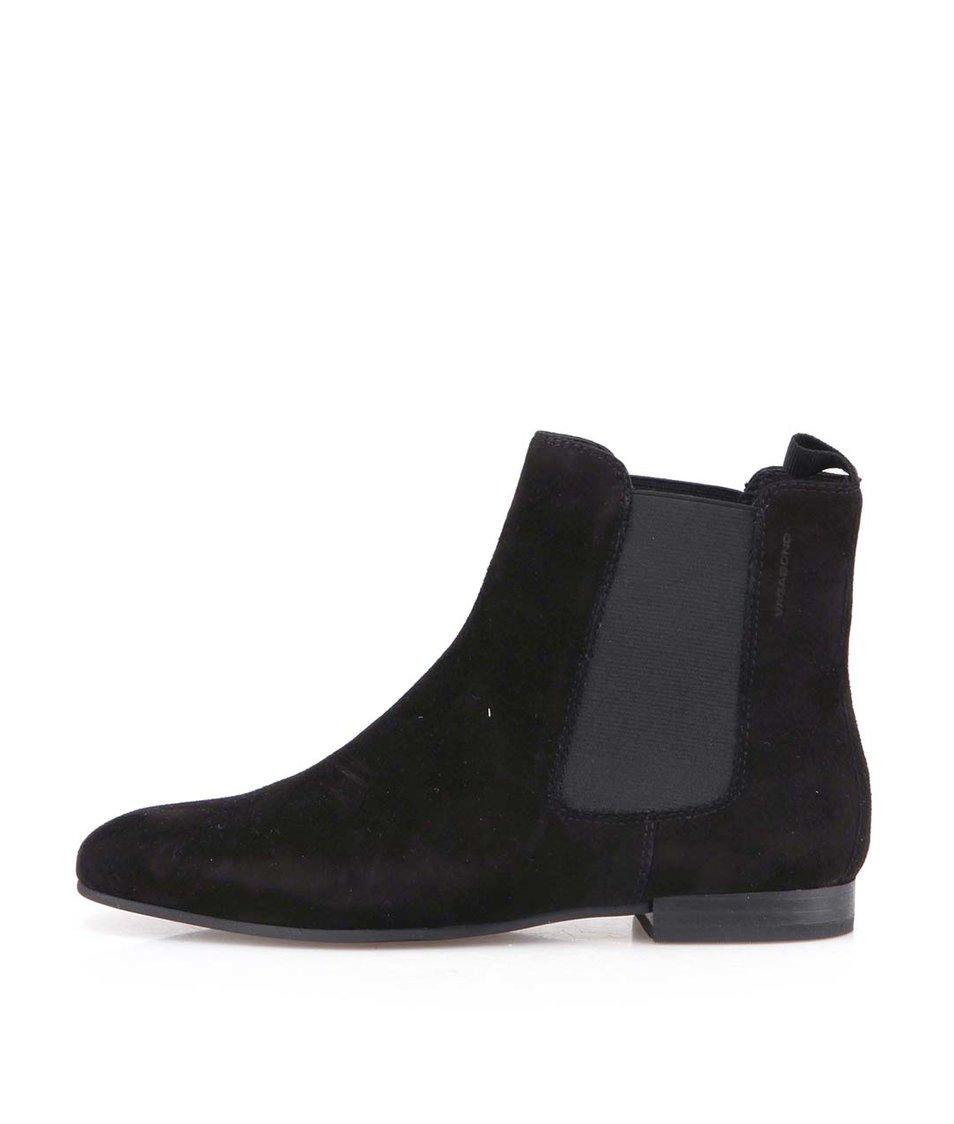 Černé dámské kotníkové chelsea boty Vagabond Yulia
