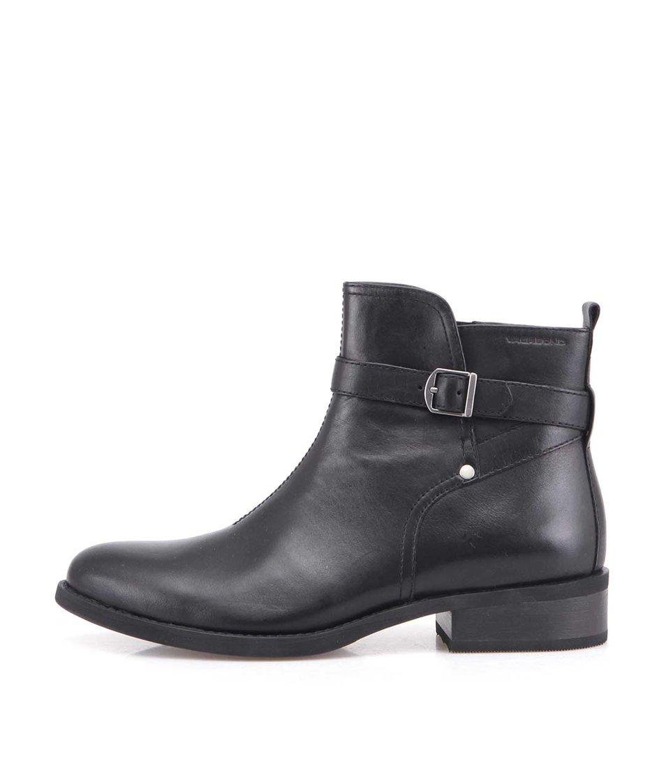 Černé kožené boty Vagabond Cary